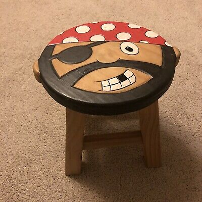 Childs Wooden Pirate Stool