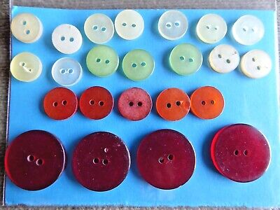 Dill-330866-M Dill Pearlised Two Step Round Buttons