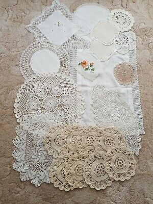 Job Lot of 21 Doilies/Mats. Crocheting.Lace. Embroidery.