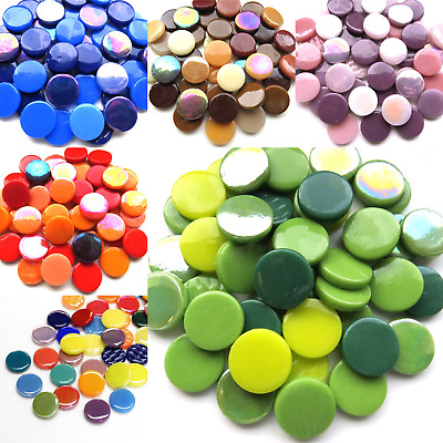 Penny Rounds Mosaic tiles for arts and crafts - 100g Various Colours