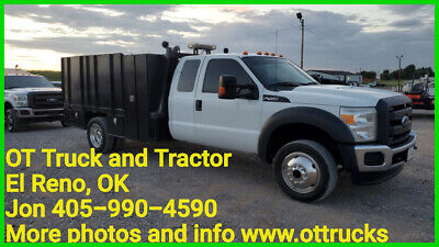 2014 Ford F-450 XL 2014 Ford F-450 2wd Ext Cab 11ft Landscape Flatbed 6.8L Gas F450 Supercab