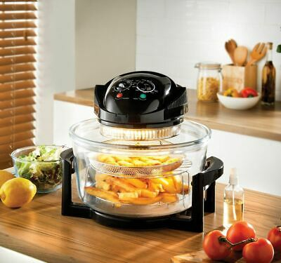 New Multifunction Airfryer Oven1400W 17L Dynamic Air Technology Black Kitchen
