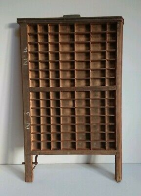Vintage Printing Letterpress Typeface Drawer Wall Ludlow Printer Tray Antique..