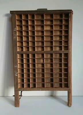 Vintage Printing Letterpress Typeface Drawer Wall Ludlow Printer Tray Antique...