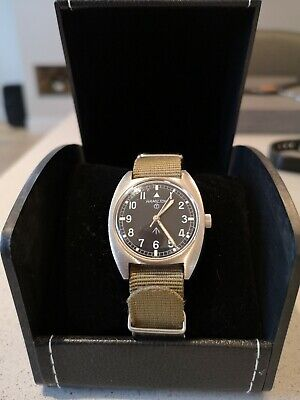 Vintage Hamilton W10 Military Stainless Steel Manual Watch British Military