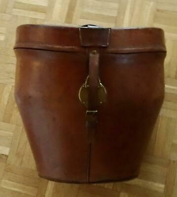 Outstanding Vintage Leather Double Hat Box