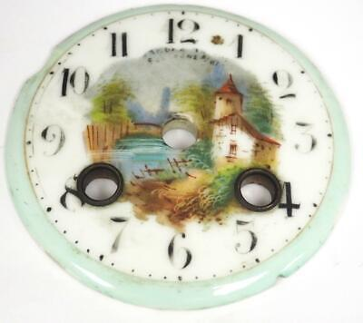 Antique French Blue Sevres Enamel Porcelain 8 Day Mantle Clock Dial Clock Spares
