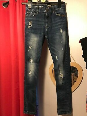 trendy boys next skinny jeans blue aged 12 years great condition