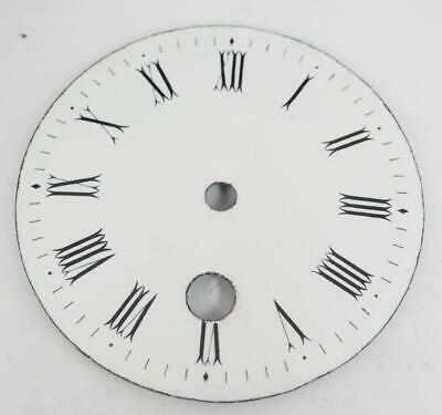 Antique French White Enamel Porcelain 8 Day Mantle Clock Dial - Clock Spares