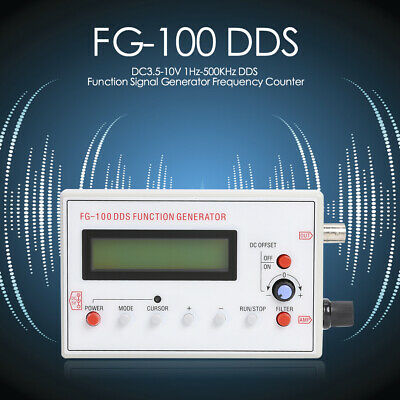 500KHz D2A1 FG-100 DDS Function Signal Generator Frequency Counter 1Hz