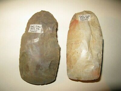 A lot of 2 Neolithic African Mali Flint Axes, 4th - 3rd millenium B.C.