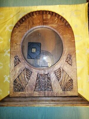Cash Clock Pendulum Art Deco oak Clockwork Antique in Restore Wireless Mouvem