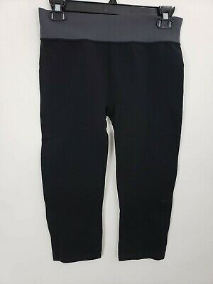Champion Womens Leggings Size Medium Compression Cropped Black Fitted