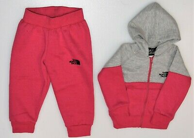 The North Face Kids Babies Hooded Tracksuit Pink Jogsuit 1 year