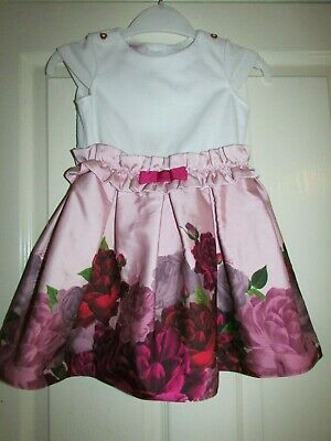 girls pretty pink roses design dress from Ted Baker age 3-4yrs