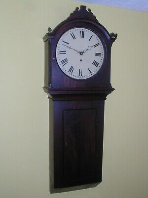 Good Mahogany  Weight Driven Tavern Clock Good Working Order