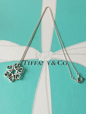 Authentic Rare Tiffany & Co Paloma Picasso Loving Hearts Medallion Necklace.