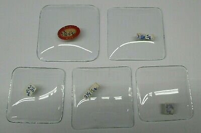 """Lot Of 5 Vintage Convex Square Replacement Clock Face Glass 2-11/16"""" to 3-9/16"""""""