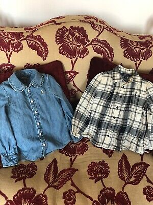 Ralph Lauren 2 Girls Blouses Age 4 Years Immaculate