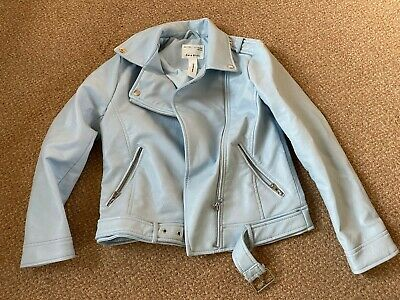 Girls Zara, Faux Leather Jacket, Blue, Aged 11-12 Years, Great Condition!