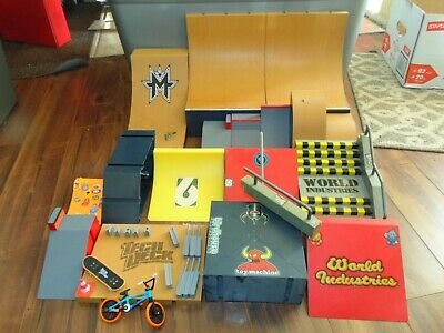 HUGE Lot Tech Deck Skatepark (Ramps, Pipes, Stairs, Rails) World Industries