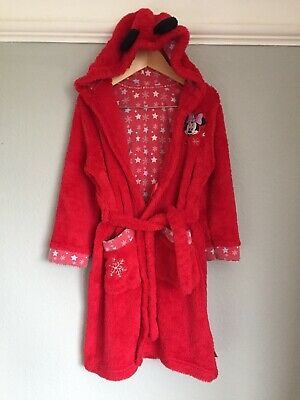 M&S Girls Minnie Mouse Dressing Gown Age 6 - 7 Years. Excellent Condition