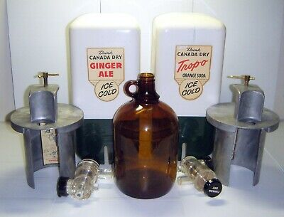 Vintage Canada Dry Ginger Ale & Trop-O Syrup Soda Fountain Dispensers