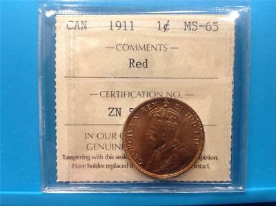 1911 - ICCS - MS-65 - RED - Large Cent
