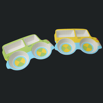 Kids Lunch Plate Multi Compartment Car Baby Cartoon Tableware  ONE