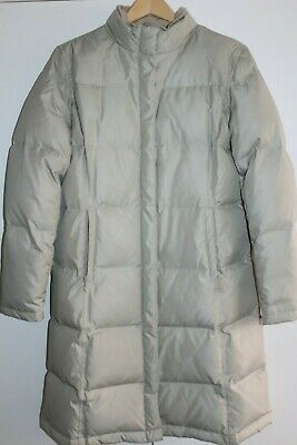 Gap Down Winter Coat Puffer Jacket Quilted Parka S Small Stone