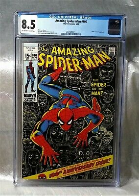 Amazing Spider-Man 100 Cgc 8.5 Off-White To White Pages. Stan Lee Marvel Romita
