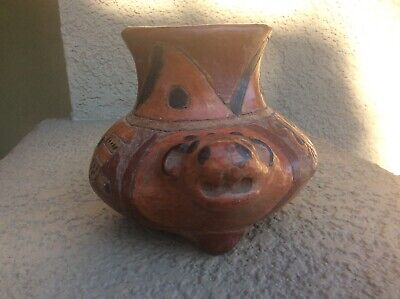 ANCIENT PRE COLUMBIAN EFFIGY Jaguar pot