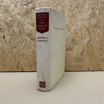 Winston Churchill The Second World War Vol IV 4 Hardback 1953 The Hinge of Fate