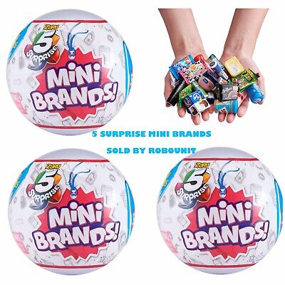 5 Surprise Mini Brands Collectible Ball | Set Of 3 | By Zuru | In Hand Lot of 3