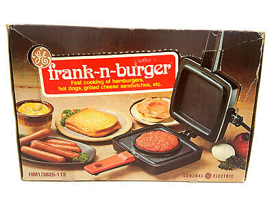 General Electric GE Frank-N-Burger HM1/3825-112 Electric Grill 1976 NOS NEW