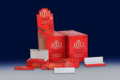 BOX OF 90 ROLLO RED ROLLING PAPERS RYO Cigarrette Tobbacco Roller Filter
