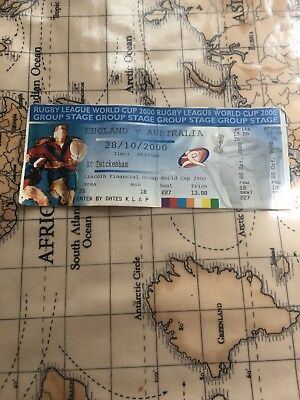 Rugby League World Cup ticket England v Australia