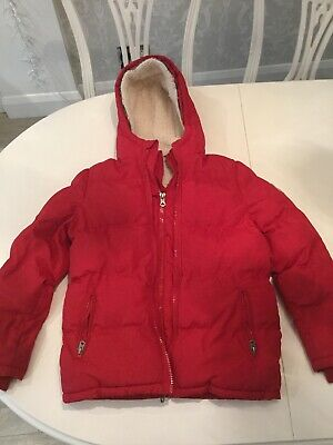 Girls Soul Cal And Co Red Quilted Sherpa Fleece Lined Coat With Hood Age:13