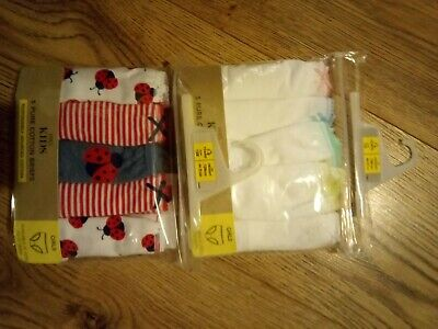 M&S Kids 10 Pairs of Girls Cotton Briefs 7-8 Years New With Tags.