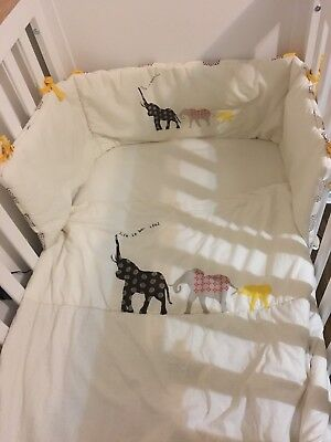 Mothercare Tusk Cot/Cot Bed Quilt And Bumper Set RRP£65.