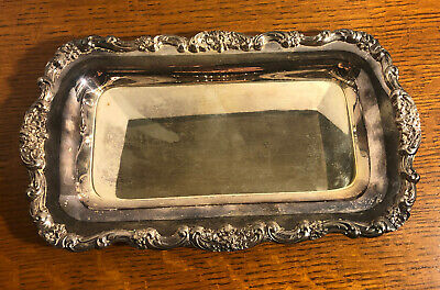 Lancaster Rose EPCA by Poole Silverplate Bread Tray # 414