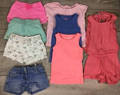 Next Zara Boden Girls Summer Clothes Bundle Shorts Playsuit Outfit Tops 5 Y