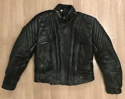 Buffalo Motorcycle Leather Biker Jacket  - Size UK 10