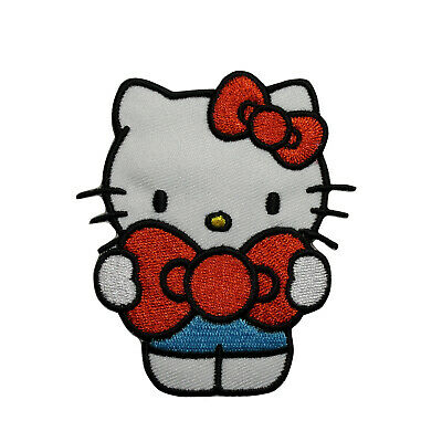 Cute Hello Kitty Embroidered Iron on patch kids baby clothes decorate 198