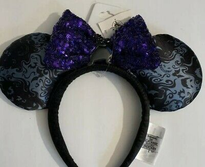 Disney Parks Oogie Boogie Bash 2019 Minnie Mouse Ears New Authentic Disneyland