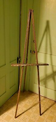 """Vintage Well loved Painters Field Easel 64"""" Portable Artists Tripod Wood"""