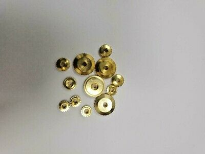 12 Assorted Hermle Clock Brass Hand Nuts Metric Sizes 2mm Shaft