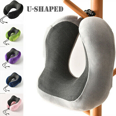 Travel Pillow Memory Foam U-shaped Neck Support Head Rest Airplane Soft Cushion