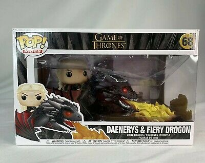Funko Pop Rides GAME OF THRONES DAENERYS AND FIERY Dragon 68 Vaulted/Retired