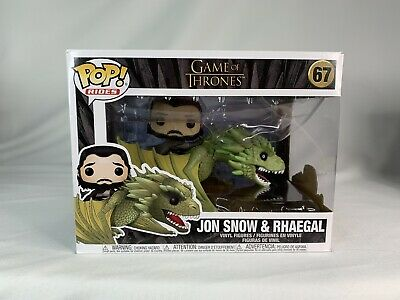 New Funko Pop Rides! Game Of Thrones Jon Snow And Rhaegal 68 Vaulted/Retired